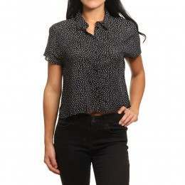 Amuse Society Stunner Woven Top Black Sands