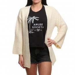 Amuse Society Let's Chill Cardigan Oatmeal