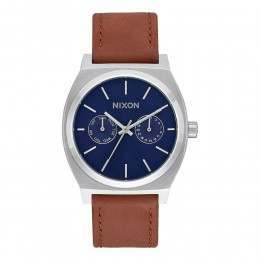 Nixon The Time Teller Deluxe Watch Navy Sun/Brown