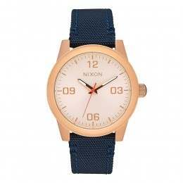 Nixon G.I. Nylon Watch Rose Gold/Navy