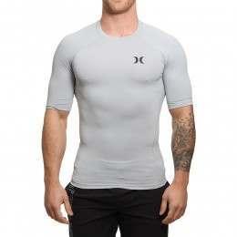 Hurley Pro Light Short Sleeve Rashvest Grey