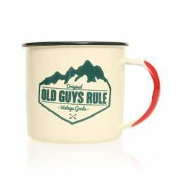 Old Guys Rule Vintage Goods Enamel Camping Mug