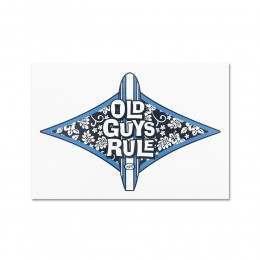 Old Guys Rule Diamond Hibiscus Decal Sticker