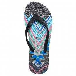 Roxy Tahiti V Sandals Black Print