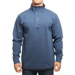 OLD GUYS RULE JERSEY BUTTON NECK JUMPER Azure