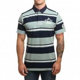 Old Guys Rule Vintage Goods Polo Shirt Blue Stripe