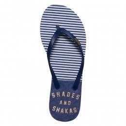 Roxy Viva Stamp Sandals Navy/Gold