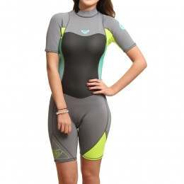 Roxy Syncro 2mm Shorty Wetsuit Silver