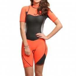 Roxy Syncro 2mm Shorty Wetsuit Orange