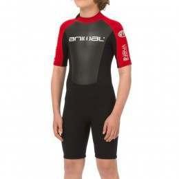 Animal Boys Nova 3/2 Shorty Summer Wetsuit Red