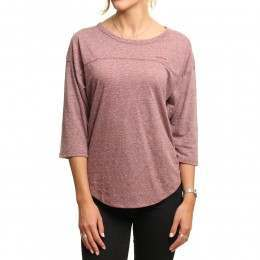 Volcom Lived In Long Sleeve Top Crimson