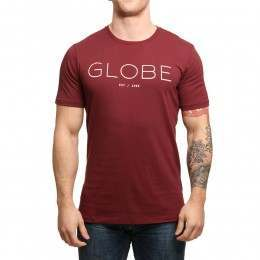 Globe Phase Tee Deep Red