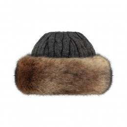 Barts Fur Cable Bandhat Heather Brown