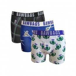 Bawbags 3 Pack Boxers Scottish
