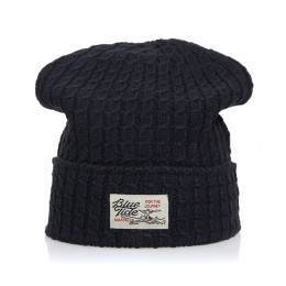 Blue Tide Knitted Beanie Navy