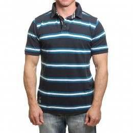 Blue Tide Dockside Polo Shirt Navy Stripe