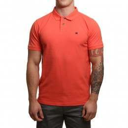 Blue Tide Classic Polo Shirt Hot Coral