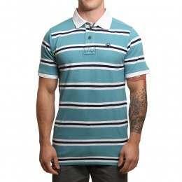 Blue Tide Dockside Polo Shirt Water Stripe