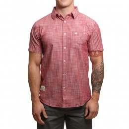 Blue Tide Oxford Chambray Shirt Garnet Red