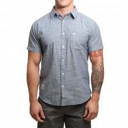 Blue Tide Oxford Chambray Shirt Dark Denim