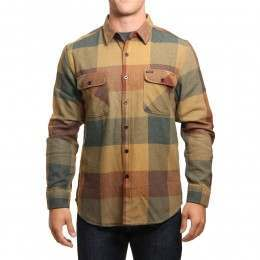 Brixton Bowery Flannel Shirt Rust/Copper