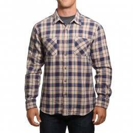 Brixton Hoffman Flannel Shirt Blue/Grey