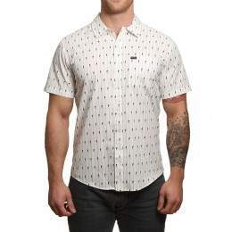 Brixton Charter Short Sleeve Shirt White/Black