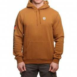 Brixton Stowell Hoody Washed Copper