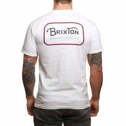 Brixton Grade Tee White/Red