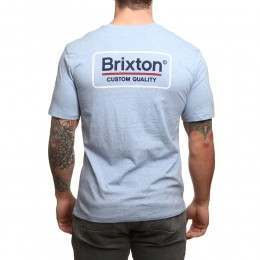 Brixton Palmer Tee Heather Blue