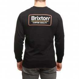 Brixton Palmer Long Sleeve Top Black