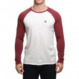 Element Blunt Long Sleeve Top Oxblood Red