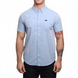 RVCA VA Dobby Shirt Aruba Blue