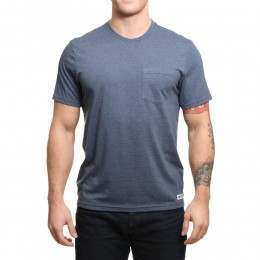 Element Basic Pocket Tee Midnight Blue Heather