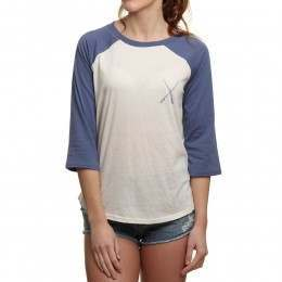 Billabong Contrast Long Sleeve Top Blue Jay
