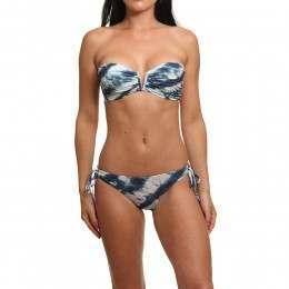 Billabong Tidal Wave Bustier Bikini Blue Jay