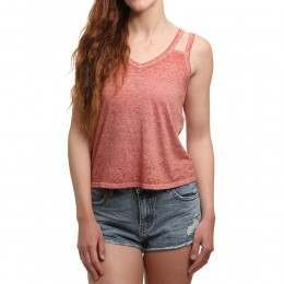 RVCA Portrayal Top Rustic Red