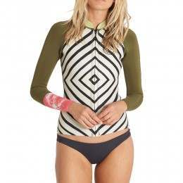 Billabong Peeky Jacket Neoprene Wetsuit Top Multi
