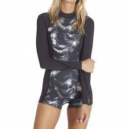 Billabong Spring Fever Shorty Wetsuit Black Sands