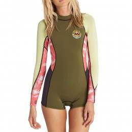 Billabong Spring Fever Shorty Wetsuit Multi