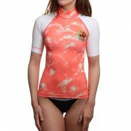 Billabong Surf Capsule Rash Vest Coral Sunshine