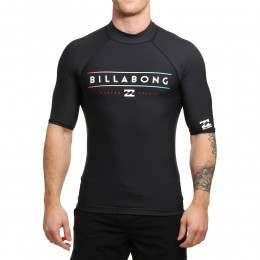 Billabong Unity Short Sleeve Rash Vest Black