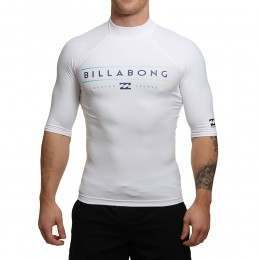 Billabong Unity Short Sleeve Rash Vest White