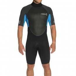 CSkins Element 3/2 Shorty Wetsuit Black/Blue/Graph