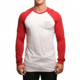 Captain Fin Tom Tom L/S Top White/Red