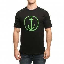 Captain Fin Original Anchor Tee Black/Green