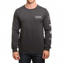 Ripcurl Stacked Vibes Crew Dark Marle