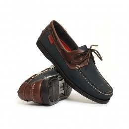 Chatham Commodore Shoes Navy/Brown