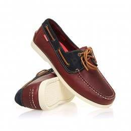 Chatham Galley Shoes Red/Navy