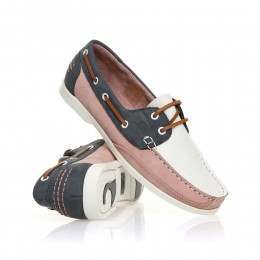 Chatham Julie Shoes White/Pink/Navy